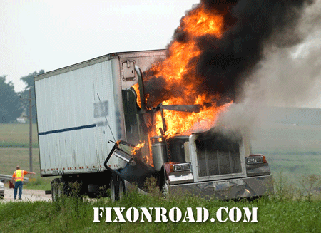 Truck Repair Fire Damage